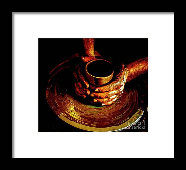 Pottery Framed Print featuring the photograph From The Hands Of An Artist by Steven Digman