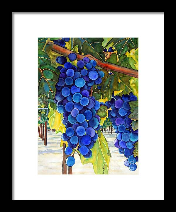 Grapes Framed Print featuring the painting From The Vineyard by Gail Zavala