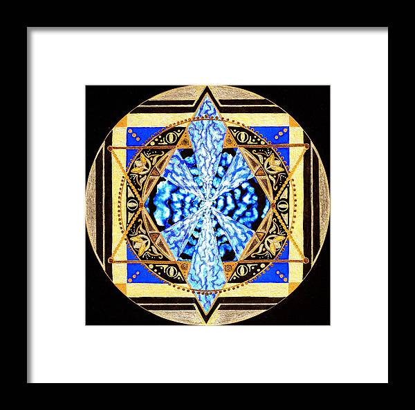 Mandala Framed Print featuring the painting From Within by Pam Ellis