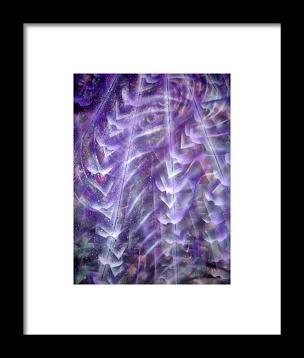 Light Rays Framed Print featuring the painting Fromabove by Leigh Odom