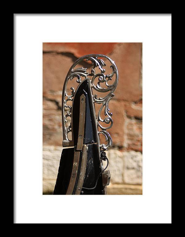 Venice Framed Print featuring the photograph Front Piece Of Gondola In Venice by Michael Henderson