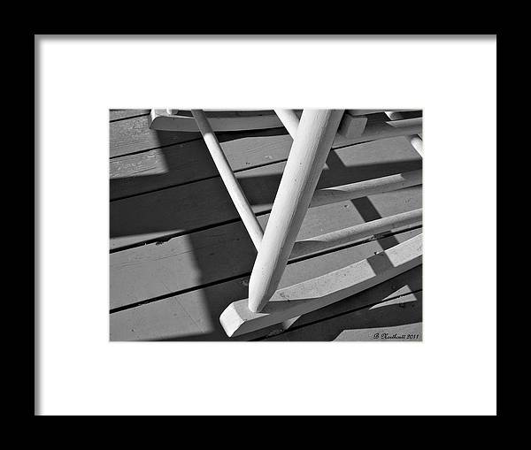Porch Framed Print featuring the photograph Front Porch Rocker by Betty Northcutt