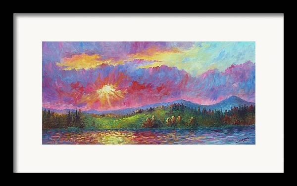 Landscape Framed Print featuring the painting Front Range Sunset by David G Paul