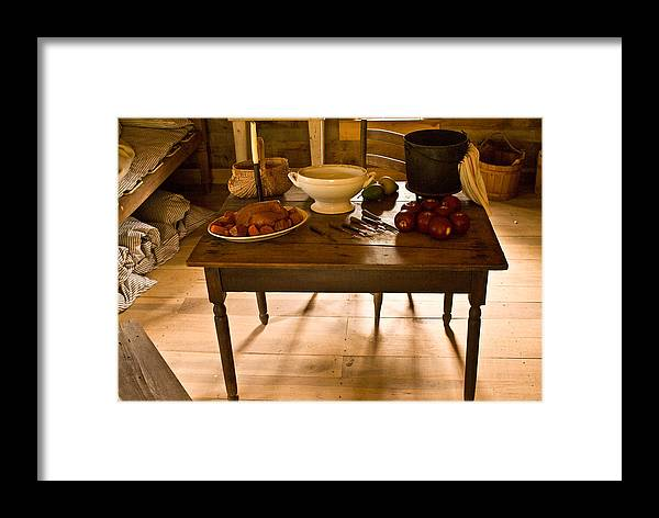 Frontier Framed Print featuring the photograph Frontier Meal by Douglas Barnett