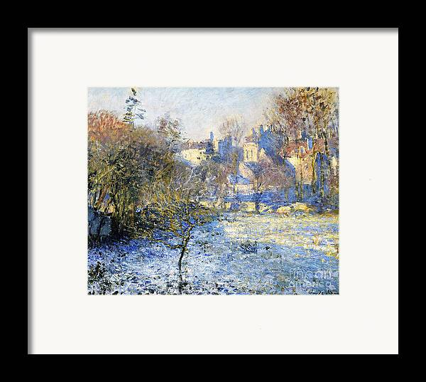 Frost Framed Print featuring the painting Frost by Claude Monet