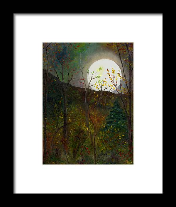 Autumn Framed Print featuring the painting Frost Moon by FT McKinstry