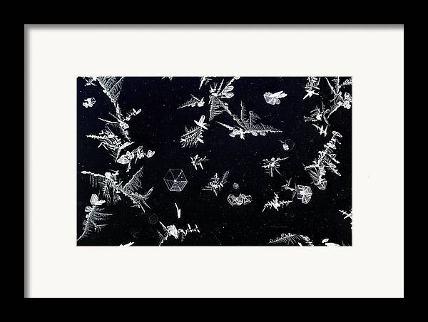 Beautiful Photos Framed Print featuring the photograph Frost On Car Window 1 by Roger Snyder