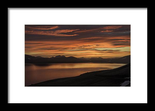 Frostakjoahals Framed Print featuring the photograph Frostakjoahals Ridge Iceland 1234 by Bob Neiman
