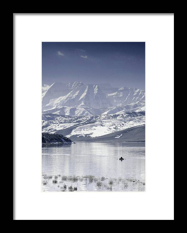 Mountains Framed Print featuring the photograph Frosted Mountains by Scott Sawyer
