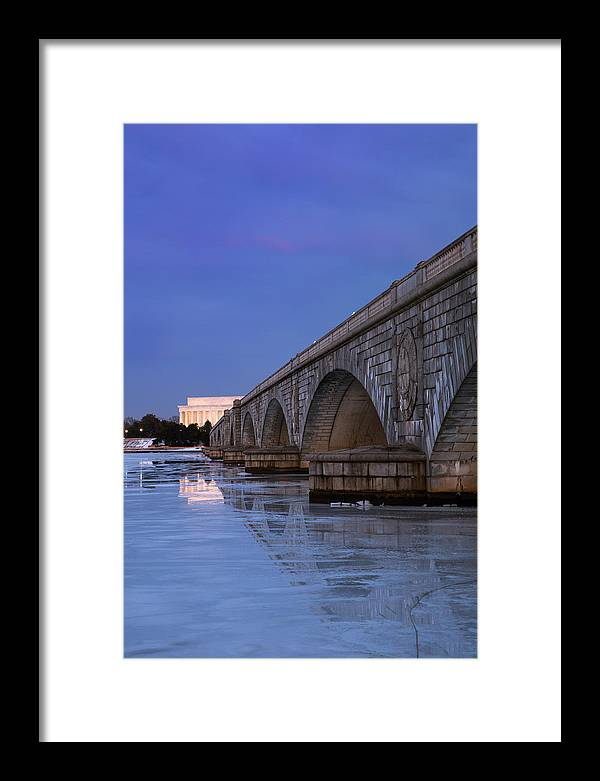 Framed Print featuring the photograph Frozen Bridges by Joshua Lebenson