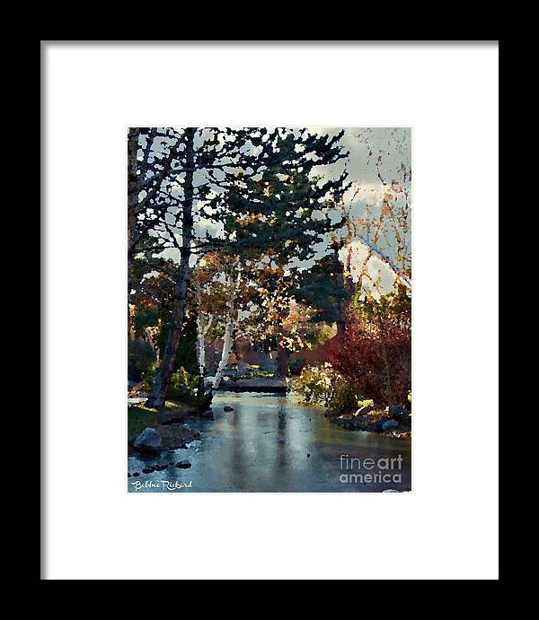 Digital Framed Print featuring the photograph Frozen Creek II Painting by Bobbee Rickard