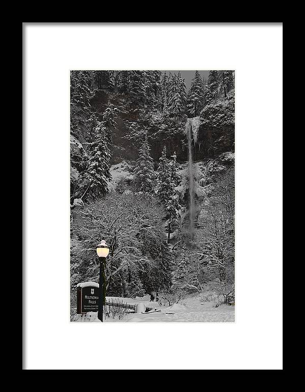 Frozen Dusk Framed Print featuring the photograph Frozen Dusk by Wes and Dotty Weber