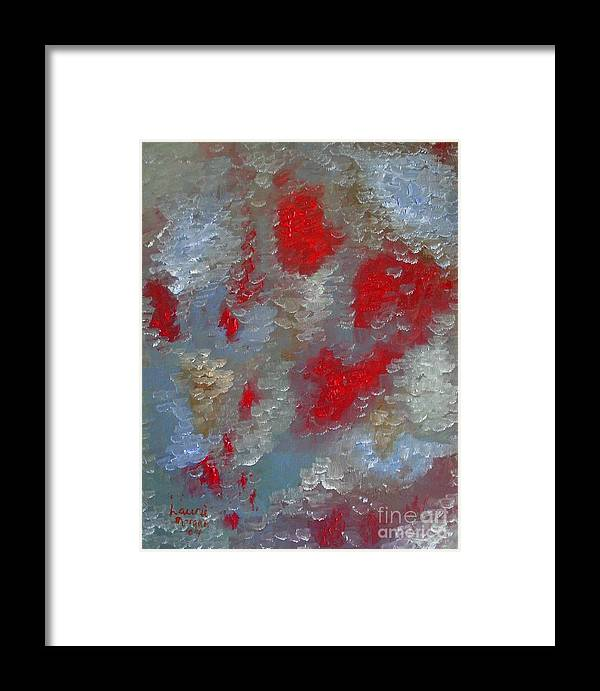 Abstract Framed Print featuring the painting Frozen Street by Laurie Morgan