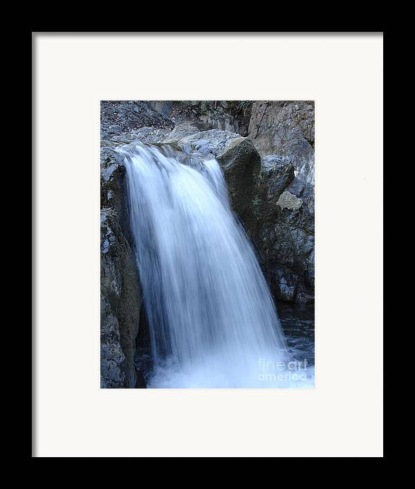 Waterfalls Framed Print featuring the photograph Frozen Water by Chad Natti