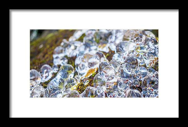 Beautiful Framed Print featuring the photograph Frozen Water Droplets by Ryan Kelehar