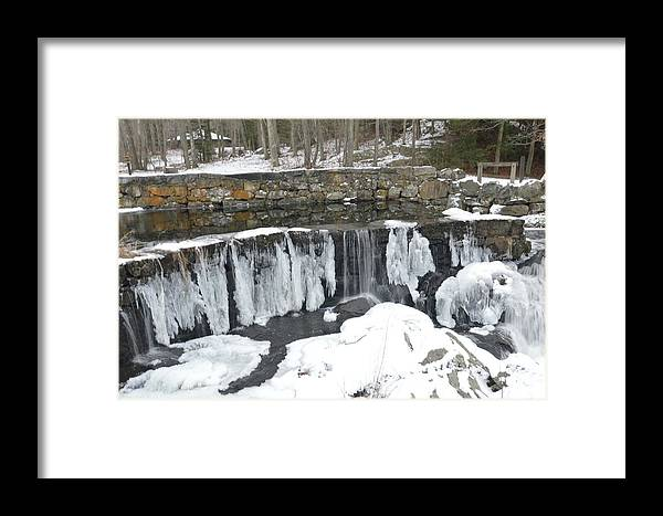 Water Framed Print featuring the photograph Frozen Waterfall by Charles HALL