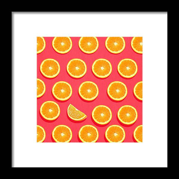 Abstract Framed Print featuring the painting Fruit 2 by Mark Ashkenazi