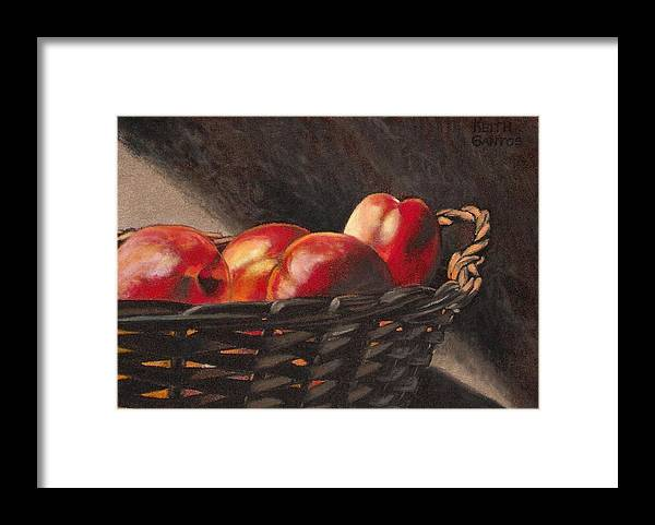 Fruit Framed Print featuring the drawing Fruit Basket by Keith Gantos