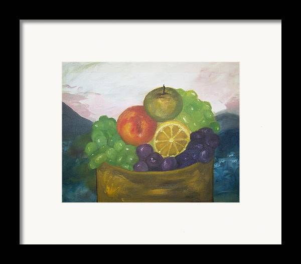 Oil Painting Framed Print featuring the painting Fruit Of The Land by Pamela Wilson