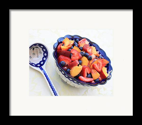 Fruit Framed Print featuring the photograph Fruit Salad With Spoon by Carol Groenen