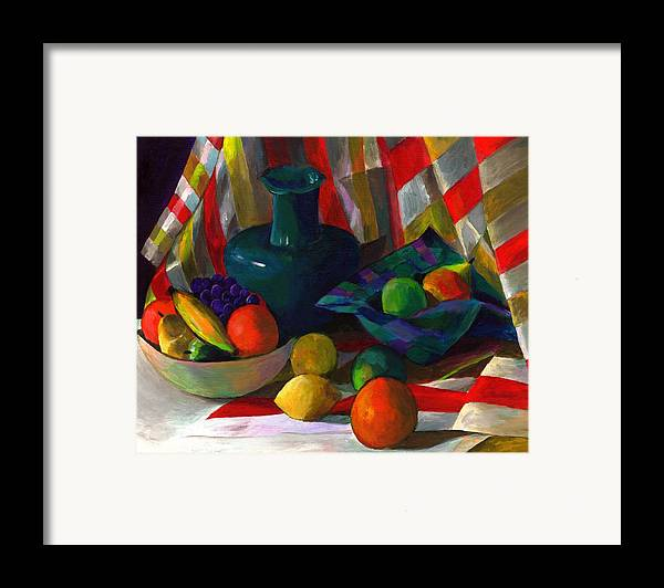 Still Framed Print featuring the painting Fruit Still Life by Peter Shor