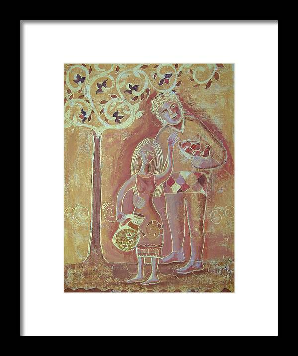 Tree Framed Print featuring the painting Fruitful Tree by Aliza Souleyeva-Alexander