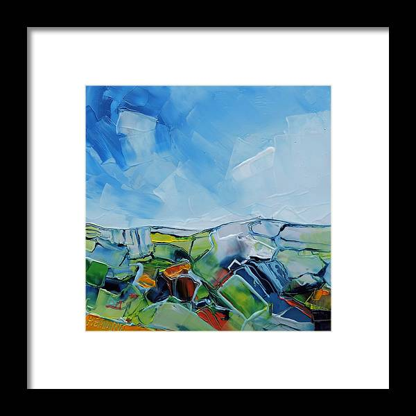 Bright Framed Print featuring the painting Fruitgum Landscape by Michael Hemming
