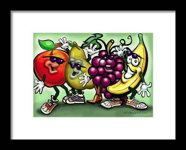 Fruit Framed Print featuring the painting Fruits by Kevin Middleton