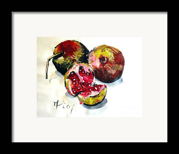 Contemporary Framed Print featuring the painting Fruits Of Heaven by Ali Hammoud