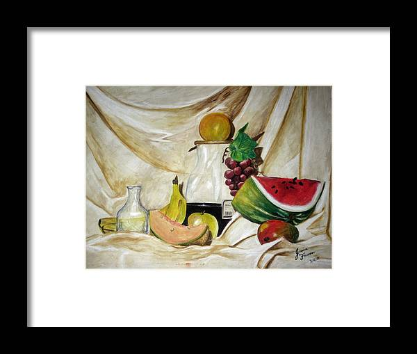 Fruit Framed Print featuring the painting Fruta by Jessica De la Torre