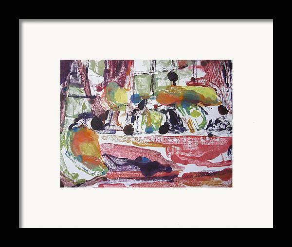 Fruit Framed Print featuring the mixed media Fruti Bowl by Aleksandra Buha