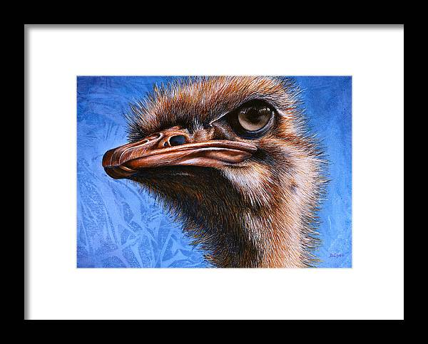 Ostrich Framed Print featuring the print Fugley by JoLyn Holladay