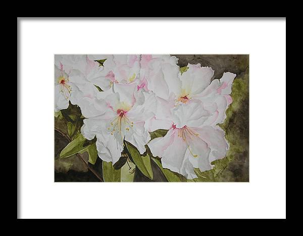 Flowers Framed Print featuring the painting Full Bloom by Jean Blackmer