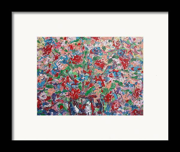 Painting Framed Print featuring the painting Full Bloom. by Leonard Holland
