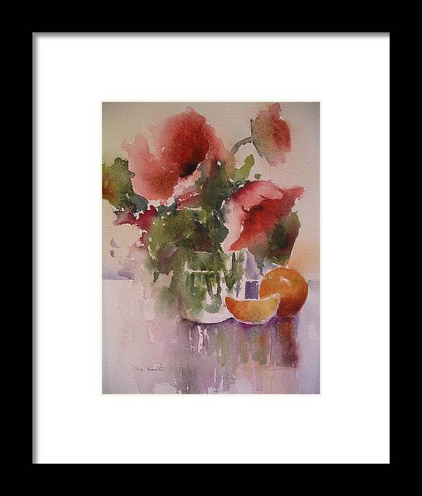 Still Life/ Flowers Framed Print featuring the painting Full Bloom by Margaret Kent