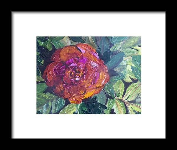 Flower Framed Print featuring the painting Full Bloom by Pamela Wilson