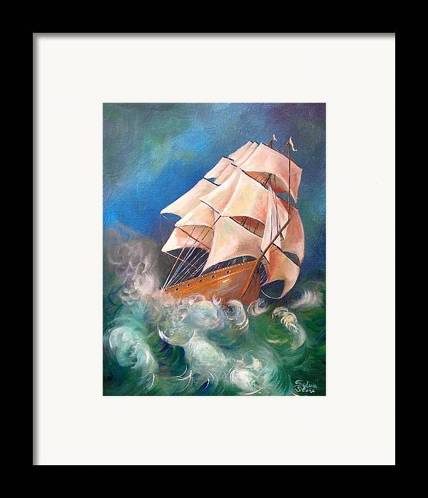 Sail Framed Print featuring the painting Full Blowm by Sylvia Stone