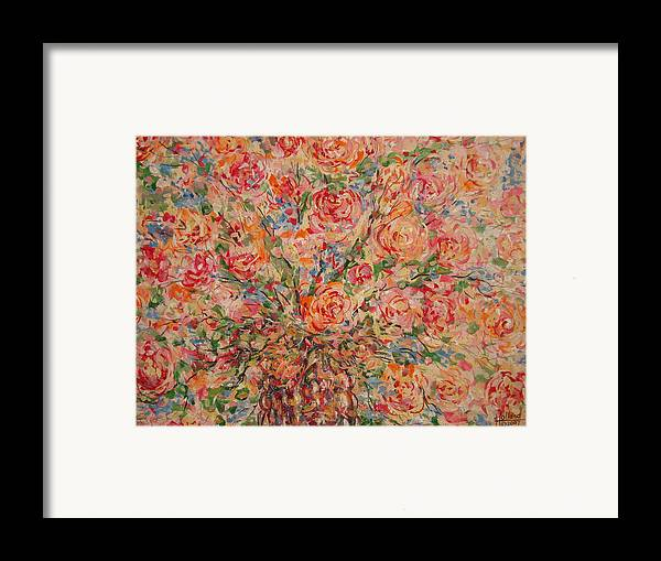 Flowers Framed Print featuring the painting Full Bouquet. by Leonard Holland