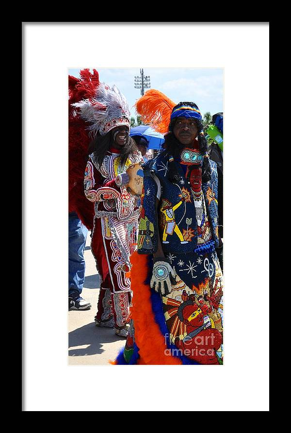 Mardi Gras Indians Framed Print featuring the photograph Full Costume by Christina McKinney