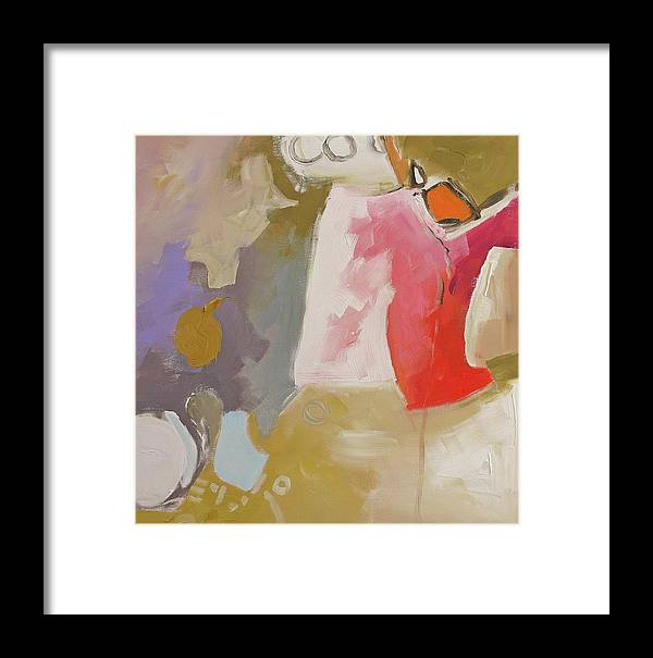 Original Framed Print featuring the painting Full Disclosure by Linda Monfort
