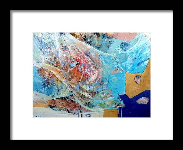 Abstract Framed Print featuring the digital art Full Sails by Dale Witherow
