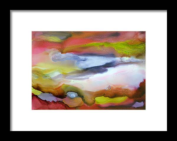 Abstract Framed Print featuring the painting Fully Alive - C by Sandy Sandy