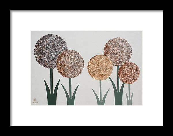 Art Decor Framed Print featuring the painting Fun Colours 3 by Frank Hamilton