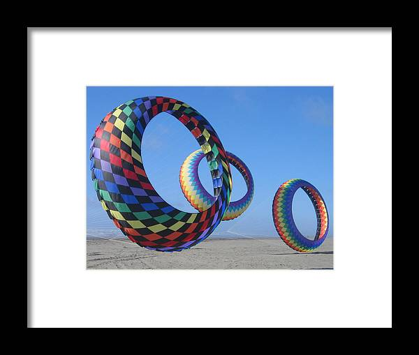 Framed Print featuring the digital art Fun Day At The Beach by Barb Morton