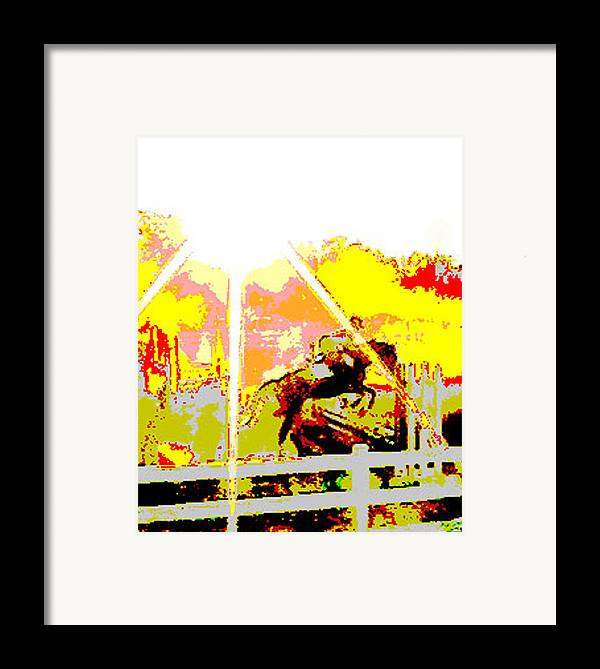Horse Framed Print featuring the digital art Fun In The Sun by Donna Thomas