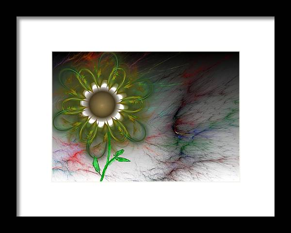 Digital Photography Framed Print featuring the digital art Funky Floral by David Lane