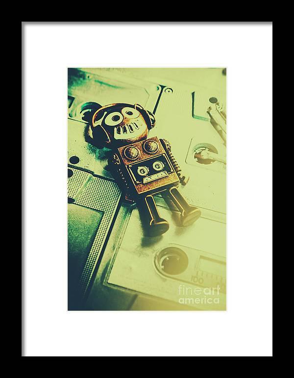 Funky Mixtape Robot Framed Print by Jorgo Photography - Wall Art Gallery