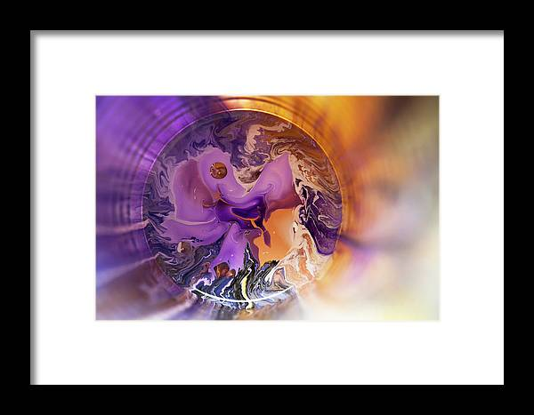 Jenny Rainbow Fine Art Photography Framed Print featuring the photograph Funnel Of Time by Jenny Rainbow