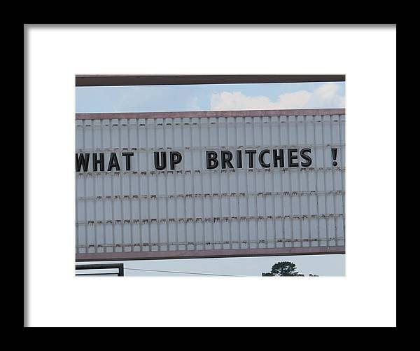 Funny Greeting Cards Framed Print featuring the photograph Funny Billboard by Aaron Martens