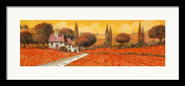 Tuscany Framed Print featuring the painting fuoco di Toscana by Guido Borelli